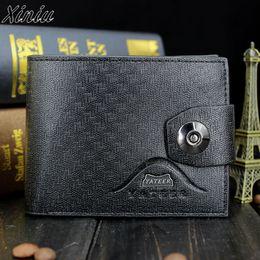 Estilo de los hombres de negocios monedero de la cartera de cuero fino de la moda de alta calidad monederos embrague Vintage masculino moneda titular de la tarjeta bolsa de dinero en venta