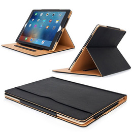 China Wallet Leather Australia - Luxury Tan Leather Wallet 3 Stand Flip Case Bag Smart Cover for iPad Air Pro 2018 11 12.9 10.5 9.7 5 2 3 4 Mini4 With Auto Sleep Wake UP
