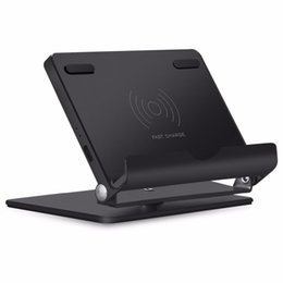 Qi Tablet UK - Fast Wireless Charger Stand,Aluminum Universal Phone and Tablet Stand QI Wireless Charging Stand for iPhone 8 X Plus Galaxy 8 7