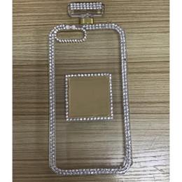$enCountryForm.capitalKeyWord Canada - Girls Rhinestone Diamond Perfume Bottle Soft Phone Case For iPhone 6 6S 7 8 Plus X Back Cover Handbag with lanyard Rope DIY Cover