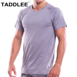 $enCountryForm.capitalKeyWord NZ - Taddlee Brand Mens T shirts Muscle Fitness Bodybuilding Workout Clothes Sports Gym Top Tee Shirts Short Sleeve Soft High Stretch