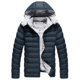 187a1650a6d men winter jacket parka hoodie 2019 - Men Winter Jacket Hooded Mens Parkas  Casual Warm Male