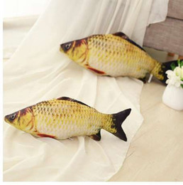 christmas pillows Australia - 20CM  40CM Simulation Carp Stuffed Fish Plush Toys Creative Sofa Pillow Kids Toy Birthday Christmas Gift