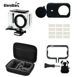 xiaomi camera waterproof case NZ - GloryStar Small Camera Protection Set For Xiaomi Mi Camera Waterproof Housing Case Protection Frame Camera Storage Carrying Bag