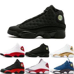 Leather men shoes itaLy online shopping - 13 S Mens Basketball shoes M GS Hyper Royal Italy Blue Bordeaux Flints Chicago Bred DMP Wheat Olive Black Cat Men Women Sport Sneakers