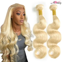 Discount remy hair extensions 18 613 - 613 Blonde Body Wave Human Hair Extensions Brazilian Virgin Hair Body Wave 100% 613 Remy Human Hair Weaves