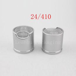 $enCountryForm.capitalKeyWord UK - High quality silver disc top caps with aluminum collar 24 410, aluminum shampoo cap,plastic bottle cap push pull ,press caps