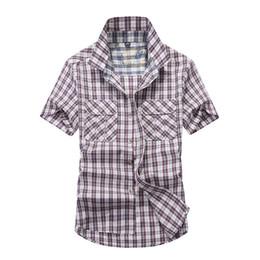 $enCountryForm.capitalKeyWord UK - New Thin Shirts Men's Short Sleeved Plaid Shirt Thin Tops Summer Men short sleeve shirt Casual Tops Plus Size XXXXL