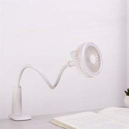 Flower sprinklers online shopping - LED Fan Summer Desktop With Clip Degrees Tortuous Fixed USB Charge Flower Sprinkler Night Light Comfortable Wind Speed tx V