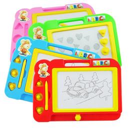 Crianças Pintura Escrita Magnética Desenho Graffiti Board Toy Preschool Ferramenta Crianças desenho Meninos Meninas placa de brinquedo educacional Y117 em Promoção
