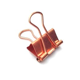 $enCountryForm.capitalKeyWord UK - 15pcs set Solid Color Rose Gold Metal Binder Clips Notes Letter Paper Clip Office Supplies All Rose Golden Clips Office School