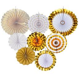 Fan di carta del tessuto di fan scintillante decorativo del fan di carta d'attaccatura per le decorazioni del partito