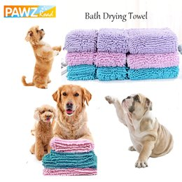 Towels For Dogs Australia - Luxury Pet Dog Bath Drying Towels Strong Absorbent Water Blankets Super Soft Warm for Puppy Kitten Dog Cat Sleep Towels Grooming