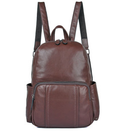 cc66d29cab84 Chocolate luxury quality 2018 latest leather ladies shoulder bag first  layer leather vintage ladies backpack simple handbag