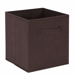 China new Cube Non-woven Fabric Folding Storage Bins for books Underwear Bra Socks clothes Organizer toys Storage box Large Baskets cheap baskets for clothes storage suppliers