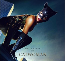 Wholesale Halloween Sexy Catwoman Mask Cosplay Costume Latex Helmet Fancy Half Face Black Mask Cosplay Masque Party
