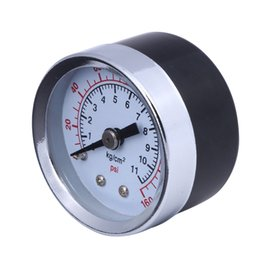 Wholesale Air Compressor Hydraulic Pressure Gauge Tester 0-160 PSI 1 8'' NPT Mini Compressor Pressure Gauge 1.5'' Face Back Mount