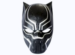 Masquerades Decorations For Party UK - Black Panther Masks Movie Cosplay Men's Plastic Party Mask Masquerade Props for Halloween Christmas Decoration W8030