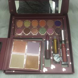 Ky wholesale online shopping - High quality makeup set brand Ky jordyn makeup full set WIFE Life highlighter Eyeshadow Lip Gloss lipstick Cosmetics kit