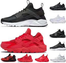 hot sale online 8fce5 b141f nike air huarache shoes Huarache 4.0 1.0 Classical Triple Weiß Schwarz Grau  Gold Rot Herren Damen Huarache Schuhe Huaraches Sport Turnschuhe Laufschuhe  ...