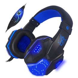 Discount gaming computers - Bass Stereo Gaming Headset Cool glowing headphones For Computer PC Gamer earpiece Luminous Big Earphone With Micro LED L