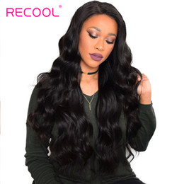 Discount hair weave buy - Recool Hair Peruvian Body Wave Hair Bundles 8-30 Inch Remy Human Hair Weave Natural Color Hair Extensions Can Buy 3 or 4
