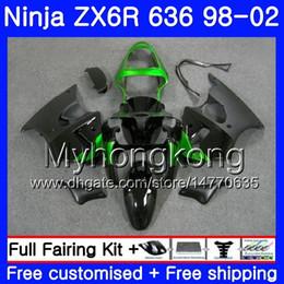 Zx6r frame online shopping - Body For KAWASAKI NINJA ZX Black green frame ZX R HM ZX600 CC ZX636 ZX R ZX6R Fairing