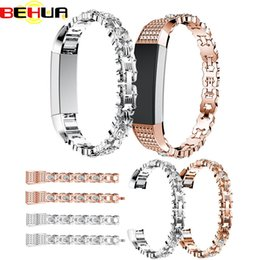 $enCountryForm.capitalKeyWord UK - High Quality Watch Strap band with Rhinestone Stainless Steel Watchband Bracelet Band Strap For Fitbit Alta HR Correas de reloj