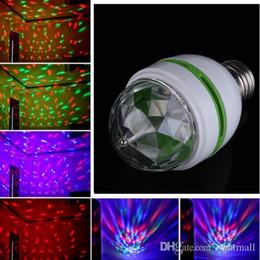 Discount night club stage light - 1PCS 3W E27 RGB LED Stage lighting Magic Ball Effect Bulb Full Color Rotating Lamp LED Party Bar Club DJ Disco laser Lig