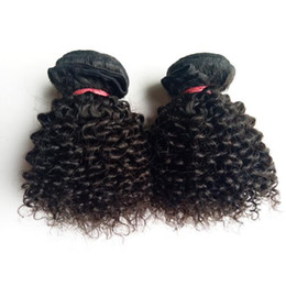 Brazilian Virgin Human Hair Extensions NZ - Brazilian Virgin human hair weft Kinky Curly hair extension 8-12inch beauty Short Bob Style Full Cuticle Unprocessed Indian remy Hair weaves