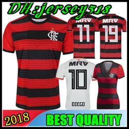 fbfcd715c05 18 19 Chandal Flamengo home Soccer Jersey 2018 2019 Brasil Flemish flamengo  Away white DIEGO CONCA WOMEN KIDS Football shirts
