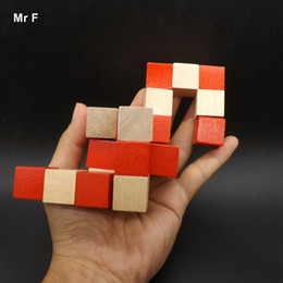 $enCountryForm.capitalKeyWord NZ - Wooden Dragon Tail Cube Jigsaw Puzzle Toy IQ Brain Teaser Training Test Gift Toy Teaching Prop Educational Gadget