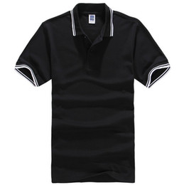 Wholesale pink polos online – oversize Newest Polo Men Shirt Casual Cotton Tops Solid Color Red Polos Plus Size xl Brand Clothing Camisa Masculina Homme Camisetas