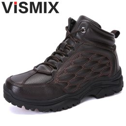 Discount man warmer shoes for winter - New 2018 Fashion Men Boots Handmade Super Warm Men Winter Shoes High Quality Ankle Boots For Autumn And Winter Shoes Siz