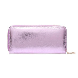 41c268e43ff7 Crack PU Leather Women Lady Glitter Laser Long Clutch Zipper Wallets Purse  fashion sequin women purse bag coin phone bag new