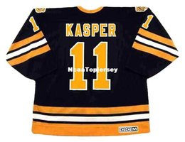 0726f938d custom Mens Jerseys  11 STEVE KASPER Boston Bruins 1988 CCM Vintage Away Hockey  Jersey Cheap Retro Hockey Jersey
