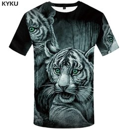6159a9626867 KYKU Tiger T shirt Jungle T-shirt Funny Plus Size Animal shirts Clothing  Tshirt Men Print Tops Tees Summer Japanese
