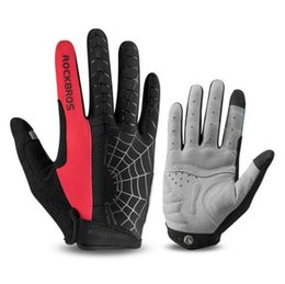 Windproof Thermal Gloves Unisex UK - Windproof Cycling Gloves Touch Screen Riding MTB Bike Bicycle Glove Thermal Warm Motorcycle Winter Autumn Men Clothing