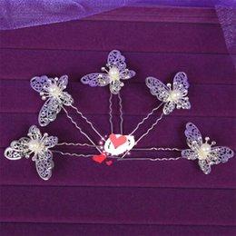 Shinning Schmetterling Haarspangen MINI Strass Perle Haarschmuck Brautschmuck Frauen Partei Liefert Schmuck Dekoration 10 teile / los XN0202 im Angebot