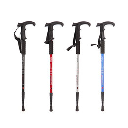 nordic poles Canada - Protable Mountaineering Rod Aluminum Alloy Pole Nordic Walking Poles Retractable Alpenstock Skiing Hiking Stick ASD88