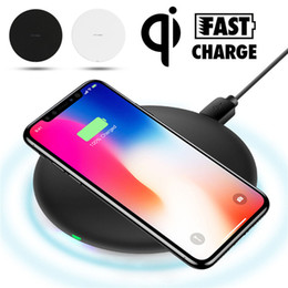 Wholesale Fast Qi Wireless Charger Charging Pad for Samsung Galaxy Note S9 S8 iPhone X