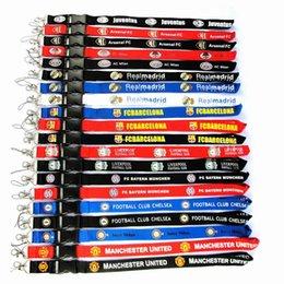 Cordicella della cinghia della squadra di football americano con la clip metallica multicolore del cavo di identificazione del cavo della chiave del metallo della clip chiave del telefono per il telefono universale