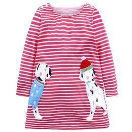 $enCountryForm.capitalKeyWord UK - Girls Dress Long Sleeve Winter New Girls Casual Pencil Striped Dresses Embroidery Cute Children Baby Girls Dresses Kids
