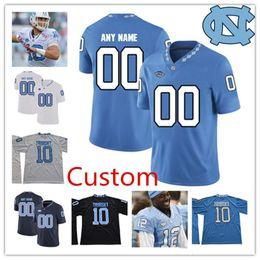 2f09ff514 UNC North Carolina Tar Heels  10 Trubisky 49 Julius Peppers 98 Lawrence  Taylor 85 Eric Ebron Blue White NCAA College Football Jerseys S-4XL