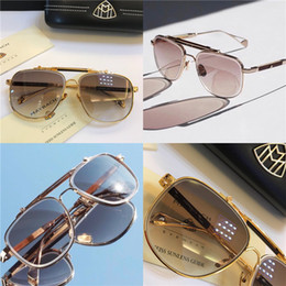 ce7d6c7539 Top luxury K gold men eyewear car brand Maybach designer glasses Pilot  titanium frame top quantity outdoor uv400 sunglasses Z18