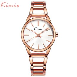 0de6eb207 KIMIO Quartz Charming Stainless Steel Back Bracelet Watch Women Ladies Dress  Crystal Clock Elegant Luxury wristWatches with box S924W