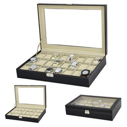 $enCountryForm.capitalKeyWord NZ - 2018 New 24 Grids Watch Case Box Casing Jewelry packing case for Hours Sheath for Hours Box Watch Display