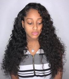$enCountryForm.capitalKeyWord Australia - Deep Part Pre Plucked Curly Lace Front Human Hair Wigs With Baby Hair For Women Indian Non Remy Hair 130% Density