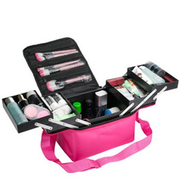 Japan Beauty Tools Australia - Organizador Fashion Women Makeup Organizer Large Capacity travel Multilayer Clapboard Cosmetic Bag Case Beauty Salon Tool Bin H672