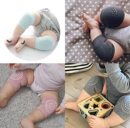 Infant Crawling Cushion NZ - 1 Pair baby knee pad kids safety crawling elbow cushion infant toddlers baby leg warmer knee support protector baby kneecap